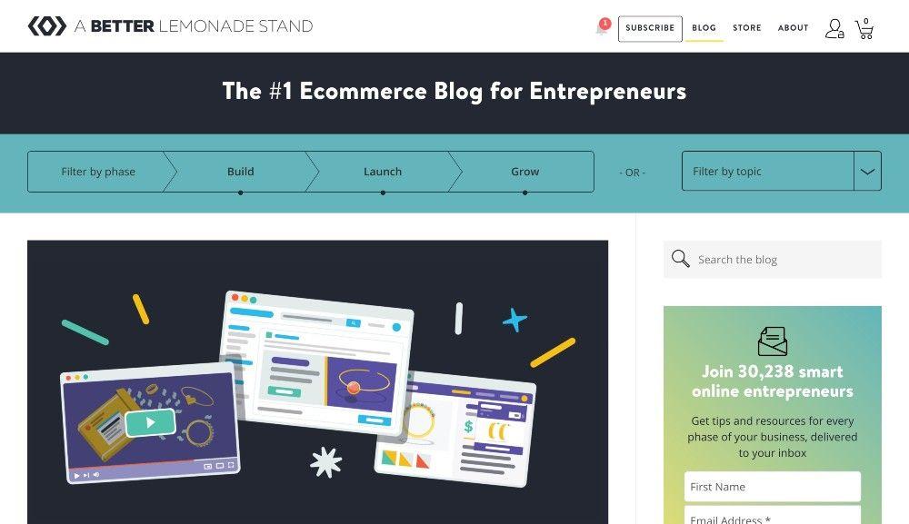a better lemonade stand blog marketing examples