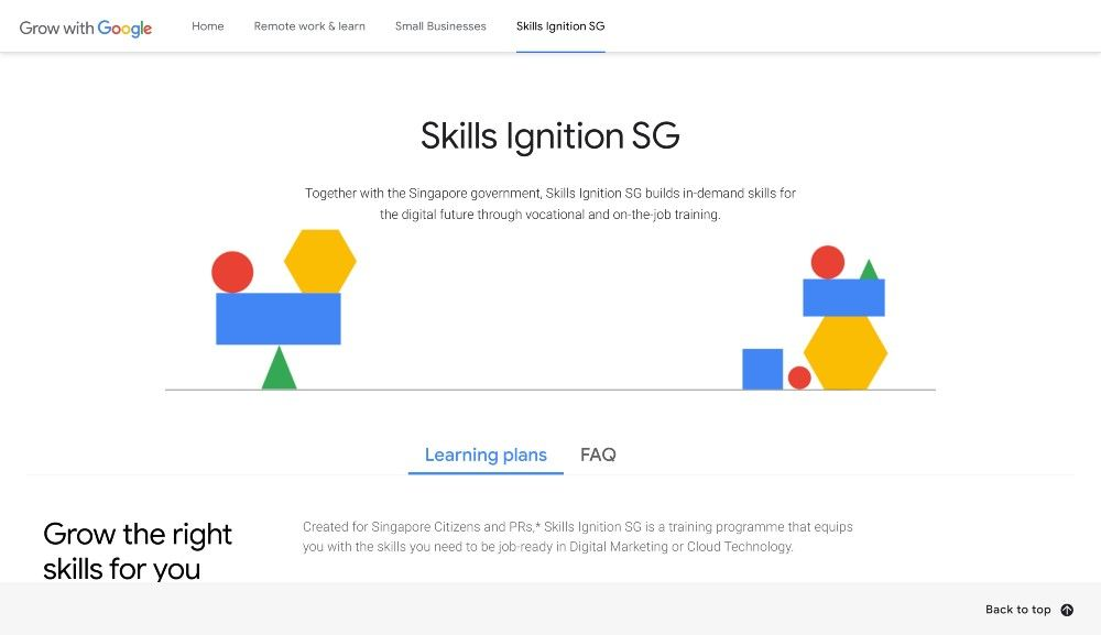 Singaporeans can use their SkillsFuture credits (given by the government) to take part in Skills Ignition SG's online courses.