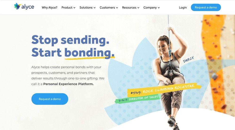 B2B gifting platform Alyce website