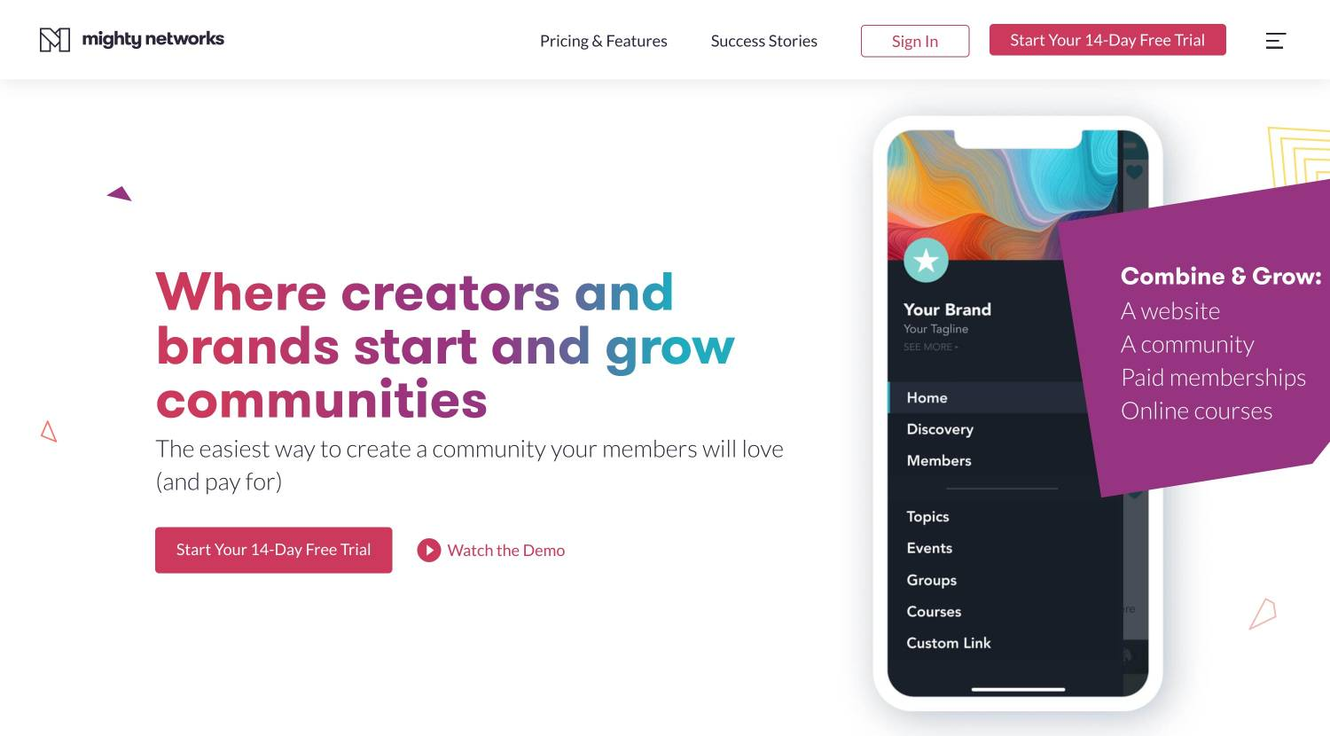 brand-creator community Mighty Networks