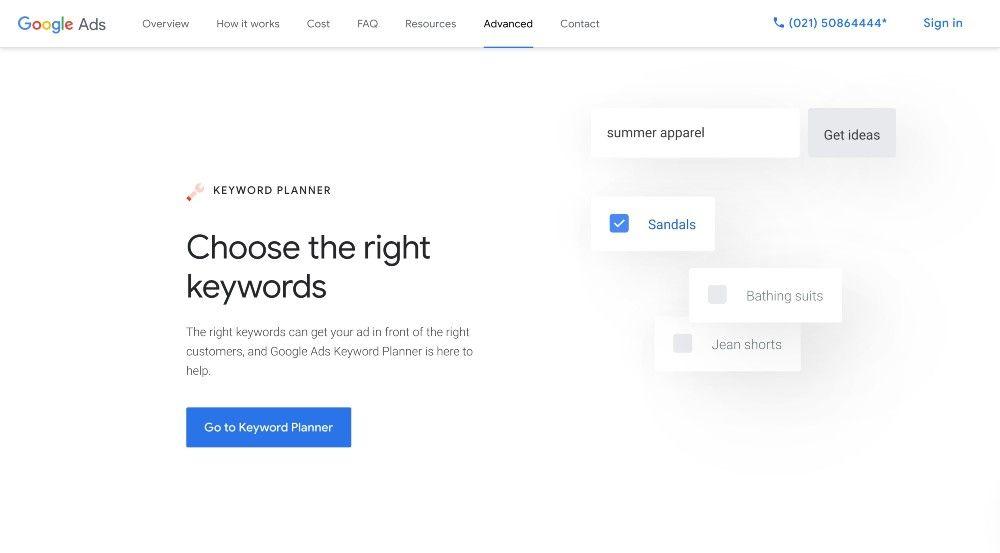google keyword planner free keyword research tools seo