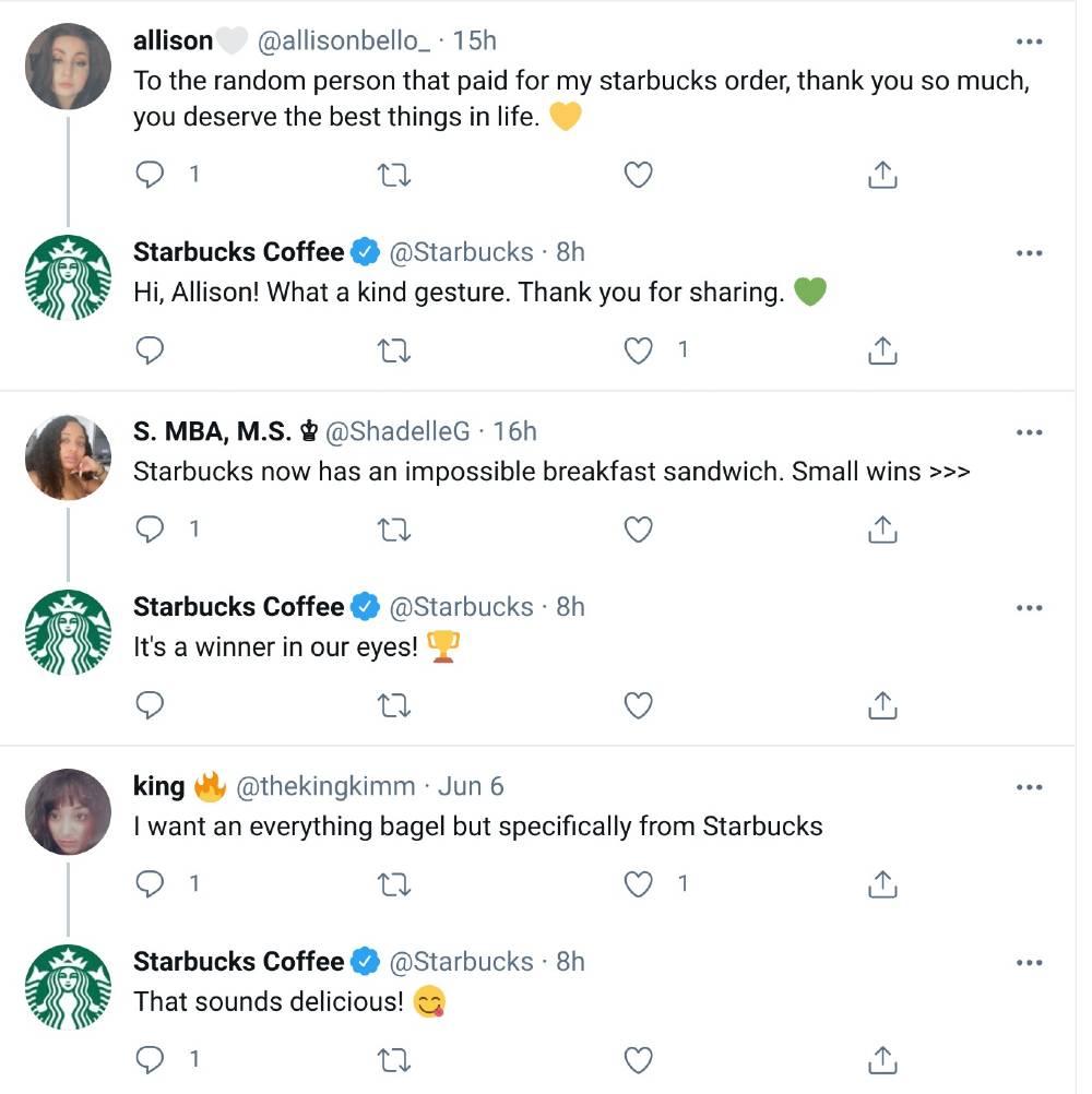 starbucks twitter social media marketing examples