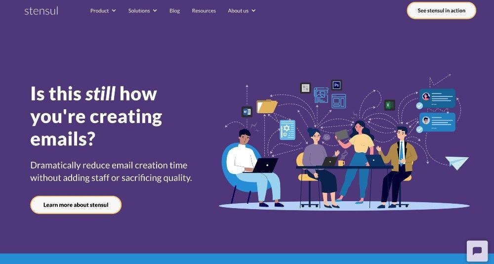 stensul email marketing app website