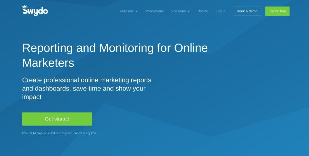 swydo website - reporting and monitoring for online marketers