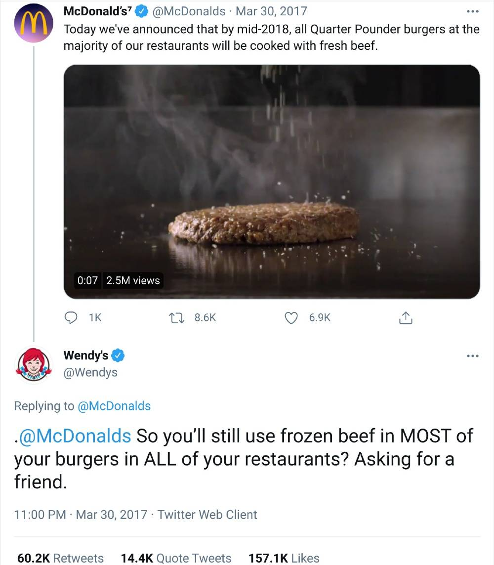 wendy's social media marketing examples