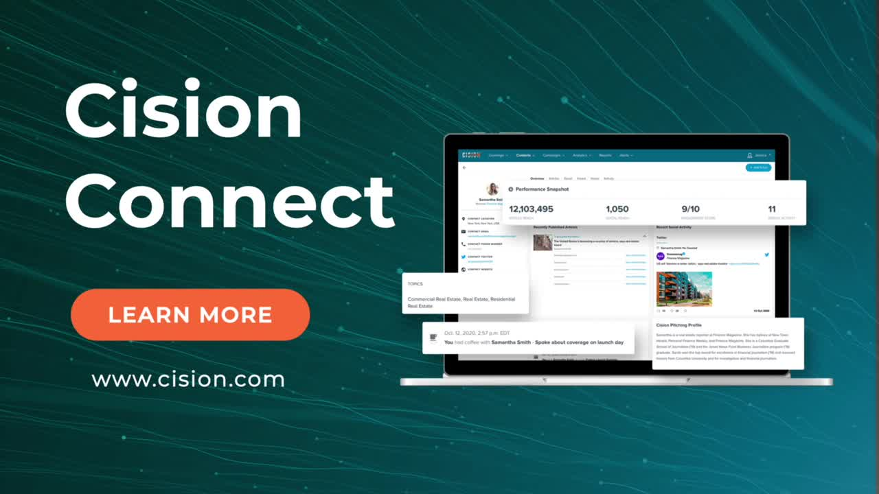top media relations tools - cision connect