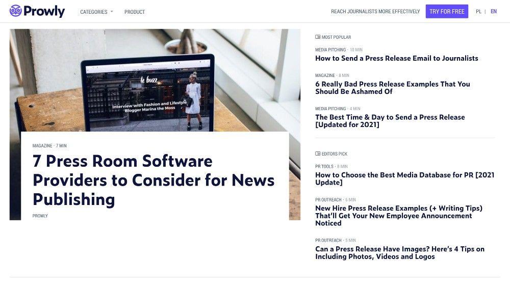 Prowly content marketing berenika teter interview - company blog