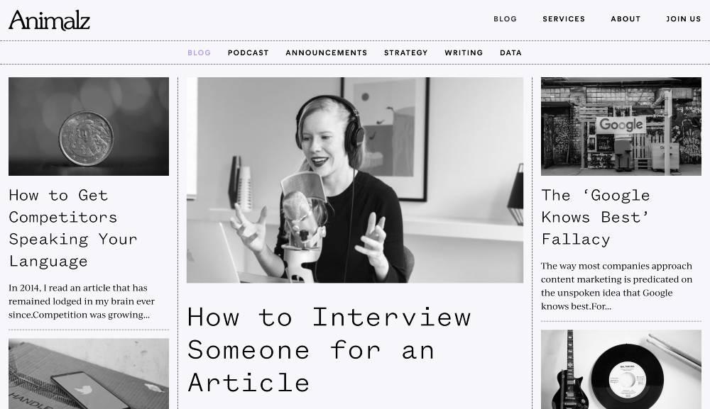 content marketing examples - animalz saas blog marketing
