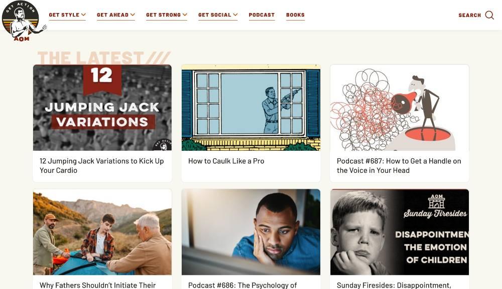 artofmanliness.com - blog marketing examples