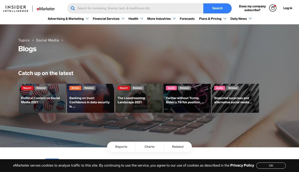 emarketer data - blog marketing examples