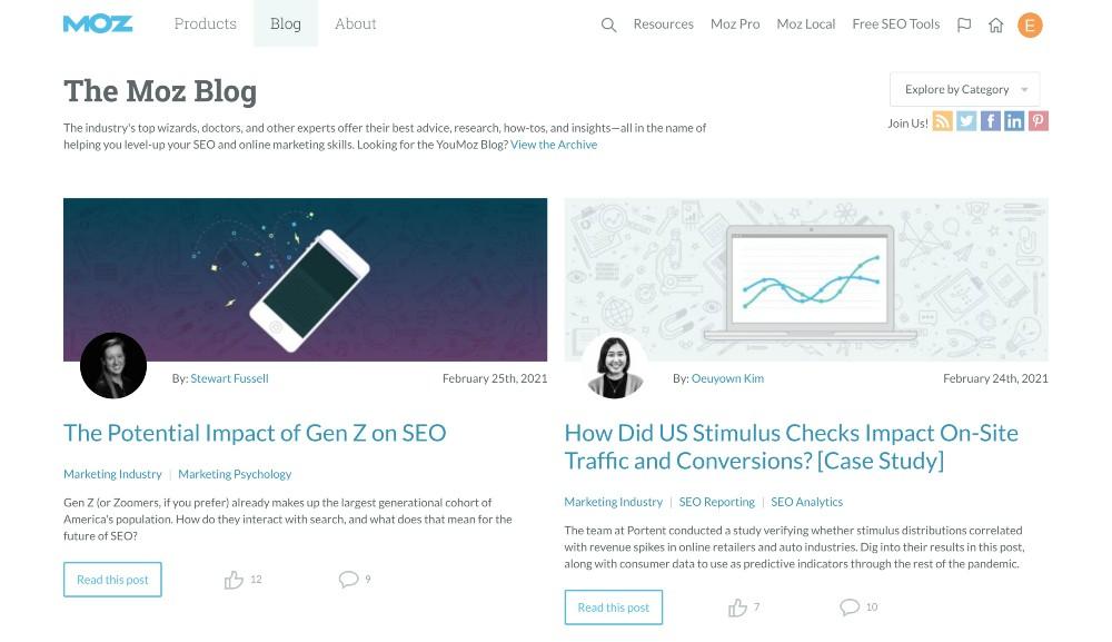 moz.com - blog marketing examples