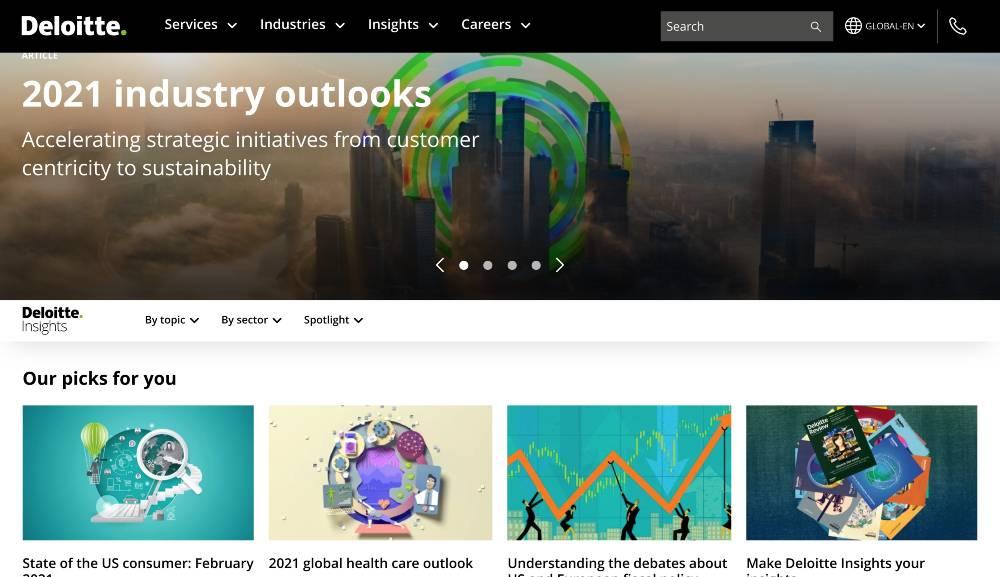 deloitte insights - b2b content marketing examples